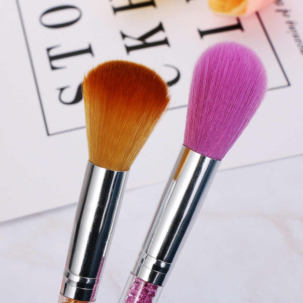 Ручка со стразами кисти для макияжа лак для ногтей кисточка для маникюра для очистки от пыли набор кистей для макияжа кисть для теней для век, комплекты