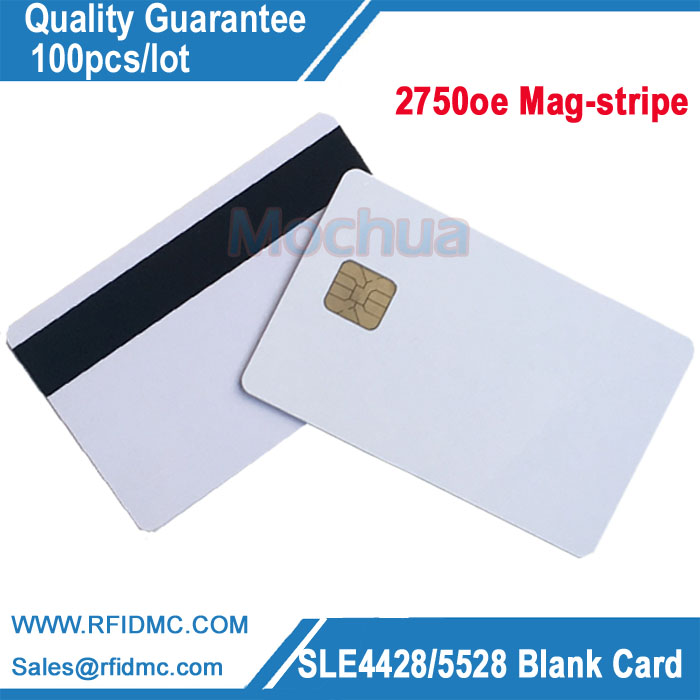 SLE4428 Card with 2750oe Mag-stripe 4428 Contact IC card-100pcs/lot mag 200 в киеве