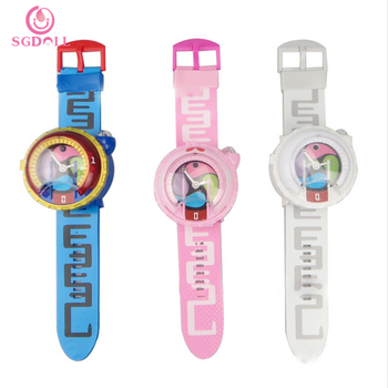 [SGDOLL] 2017 Cute New Japanese Anime Yokai Watch DX Yo-Kai Wrist Watch Kids Toy With 3 Medals Cosplay Birthday Gift 16090914