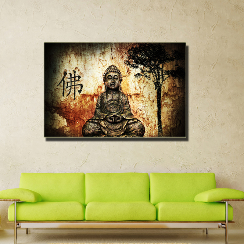 Aliexpress.com : Buy Unframed Buddha Canvas Prints Modern Buddha Painting  For Living Room Bedroom Home Decoration Wall Fine Art From Reliable Painting  ...