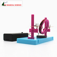 Забавный физический эксперимент домашний мотор diy материал для Детей школьников