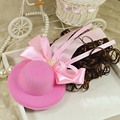 4pcs/lot children cute fashion hairpins with hat bow Rhinestone kids Hair clips barrettes for girls wholesale