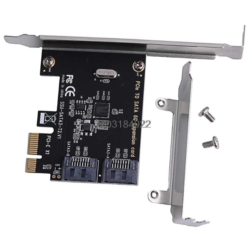 PCIe PCI Express To SATA3.0 2-Port SATA III 6G Controller Expansion Card Adapter