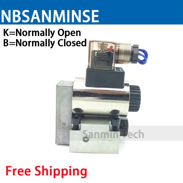 NBSANMINSE 23QDF Electromagnetic Solenoid Valve Two Position Three Way NO NC High Pressure 31.5Mpa Hydraulic Valve