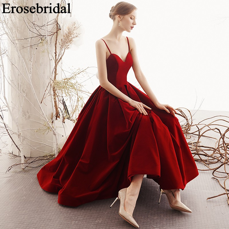 Red   Evening     Dress   2019 Elegant Women Formal   Dresses   Eveing Gowns for Women Satin Long Party   Dress   Robe Soiree