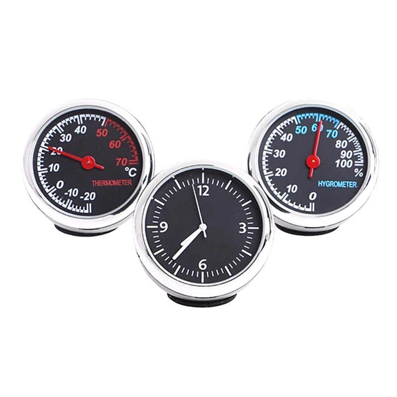 Auto Watch Automotive Thermometer Hygrometer Decoration Ornament Clock In Car Accessories Mini Car Automobile Digital Clock