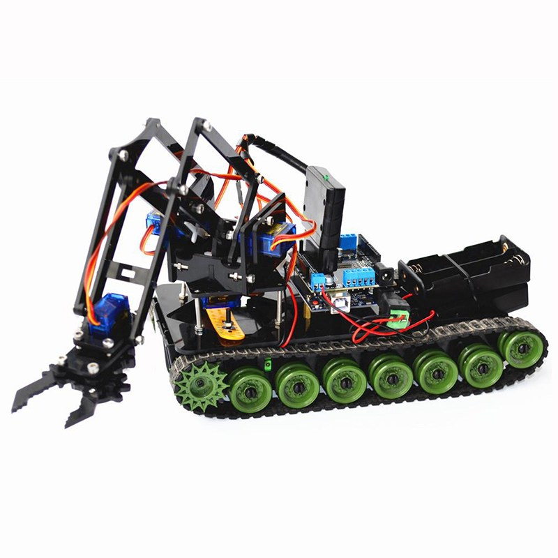 Best Deal Remote Control Robot Tank Toys RC Robot Chassis Kit With SG90 Servo PS2 Mearm RC Toys Gift лошади 2284
