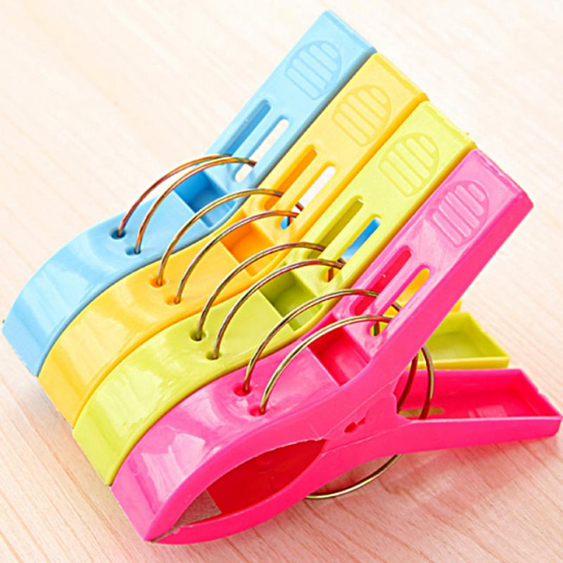 4pcs powerful laundry clips large windproof clip cotton