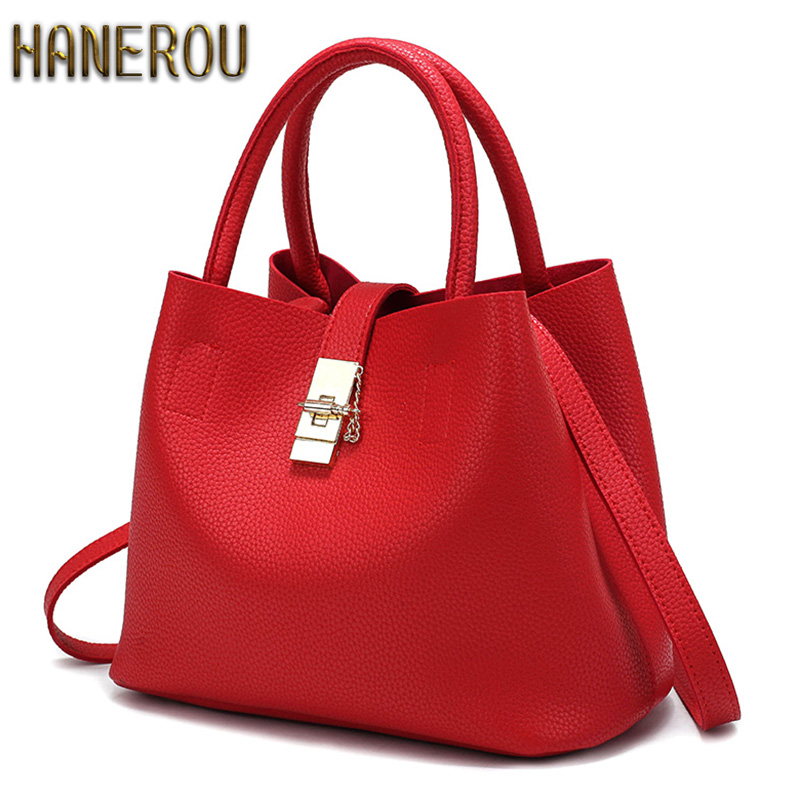 2016 New Bags Handbag Women Fashion Autumn Shoulder Bag Designer Handbags High Quality PU Leather Ladies Bucket Casual Tote Bag 2017 new women shoulder bags solid pu leather handbags ladies brand designer bucket handbag purse bolsas feminina casual totes