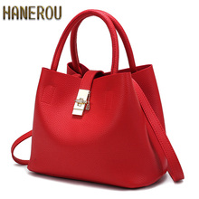 2018New Handbag Women Bag Fashion Crossbody Shoulder Bag Designer Handbags High Quality PU Leather Ladies Bucket Casual Tote Bag