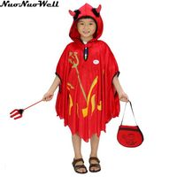 Halloween Cloak Girls Red Devil Costume Kids Cosplay Clothing European and American Children Game Uniform