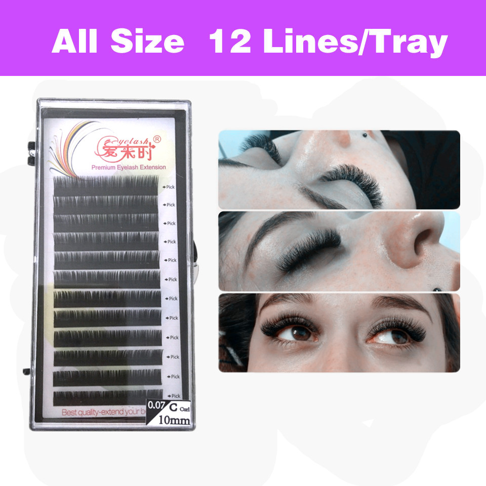 NEWCOME BCD Curl Natural Individual Eyelash Extension 3d Mink False Eyelashes Klassisk øyevipper Extension Soft Silk Material