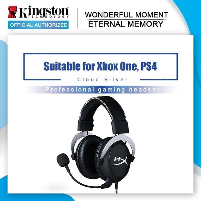 Auriculares Kingston Gaming con micrófono HyperX Cloud Pro, auriculares plateados de 3,5mm, gemelos de teléfono, teléfono móvil