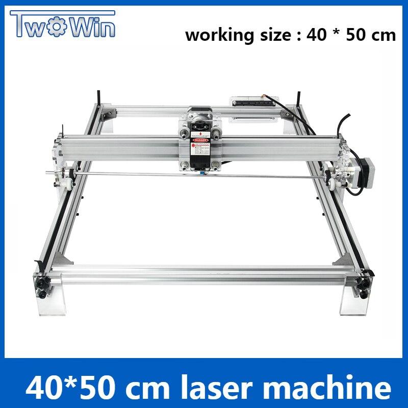 5500mw 7W 10W Desktop DIY Violet Laser Engraving Machine Picture CNC Printer working area 40cmx50cm