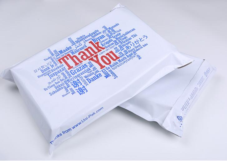 100pcs 25*33cm Thank you printing Poly Mailing Bags Plastic Envelope Express Bags, Plastic bag for packaging