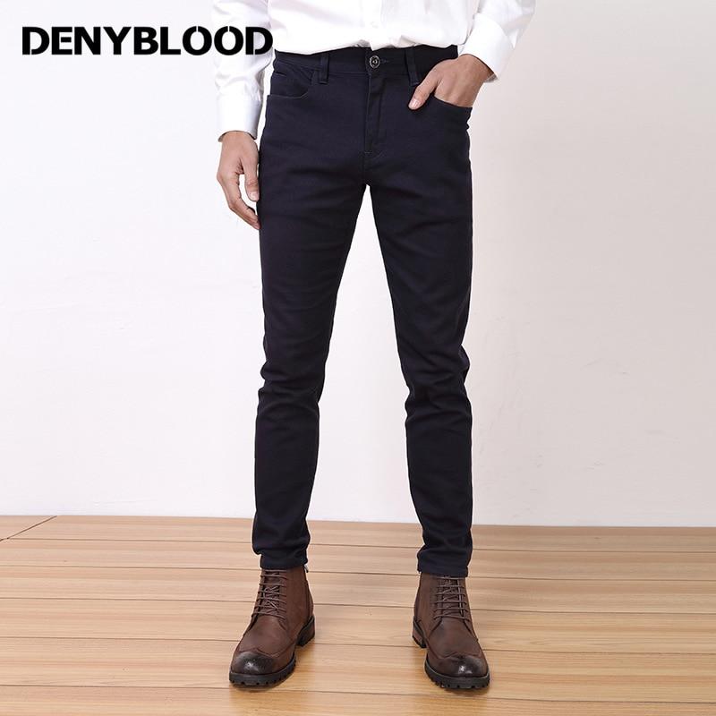 Denyblood Jeans 2017 uuden saapumisen miesten chinoshousut venyttää - Miesten vaatteet - Valokuva 3