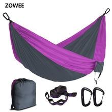 Hamac Parachute Portable pour 2 personnes, Hamac de survie militaire pour voyage, en Nylon, pour Camping