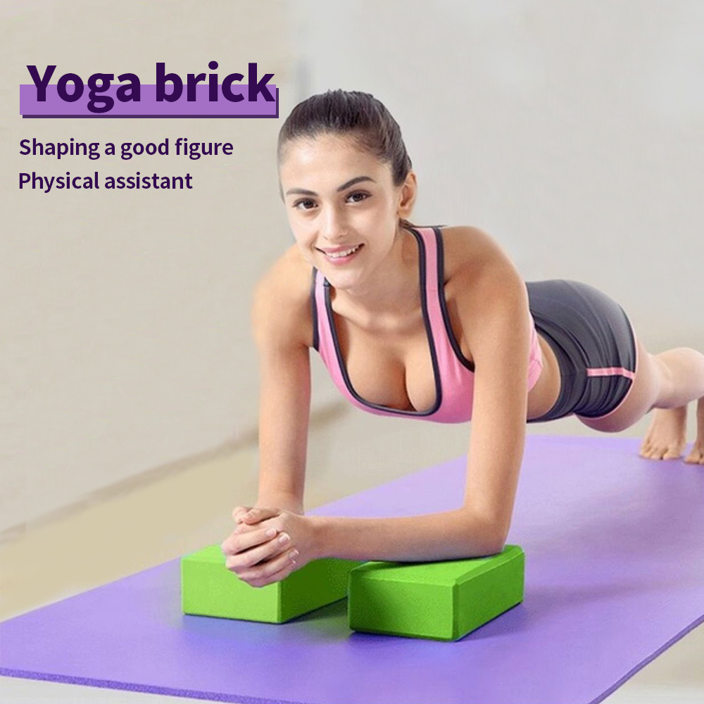 14 Color Pilates EVA Yoga Block Brick Sports Exercise Gym Foam Workout Stretching Aid Body Shaping Health Training For Women A