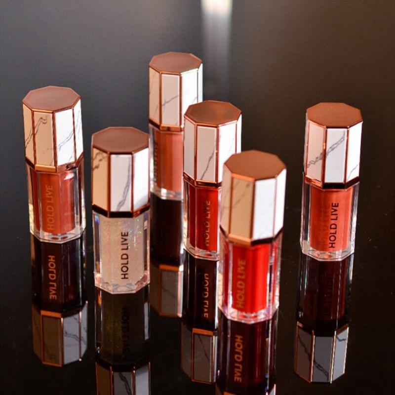 Marble Velvet Fog Lip Glaze Long-lasting Rotten Tomato Orange-brown Lip Gloss Lasting Moisturizing Nourishing Beauty Makeup Tool