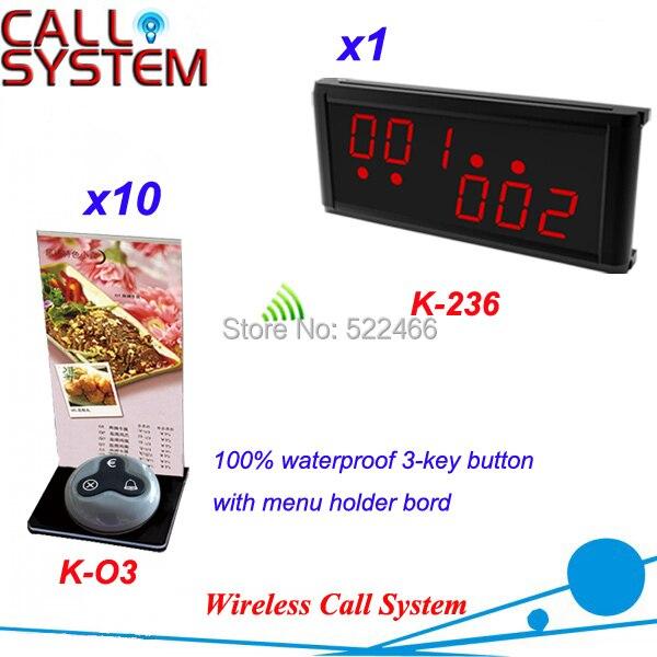 Système d'appel à distance pour les services de serveur invité avec 10 boutons de table et 1 affichage de LED, livraison DHL gratuite