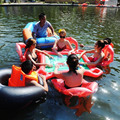 Deluxe adult water toys inflatable swimming pool water sports fitness mahjong table floating bed floating row