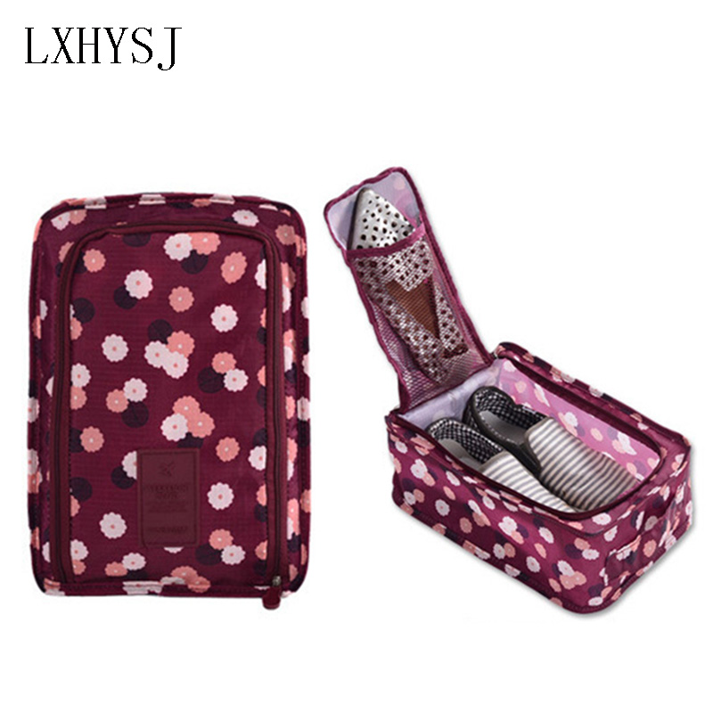LXHYSJ Travel Storage Bag Nylon Portable Organizer Shoe Bags Fold waterproof Shoes sort Bag Travel accessories