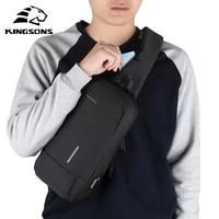 Kingsons Chest Bag Men Crossbody shoulder Bags Small Shoulder For Male Bicycle Seat Sling Fashion preppy style hip hop ks3173w
