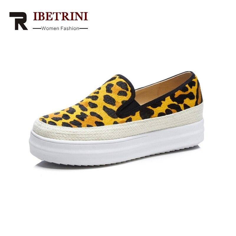 Primavera Misti Colori Donna Big Stripe leopard leopard Donne 34 Yellow stripe 40 Casual Yellow Punta Nuove Delle Crine Size Elastica Red Rotonda Pink Flats Fascia Scarpe Ribetrini z7fOqx8w