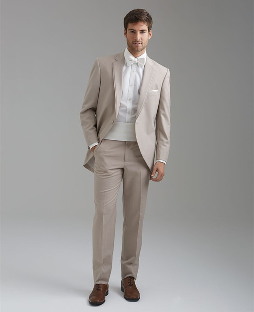 men beige suits groom wear classic suit wedding groom tuxedo free ...