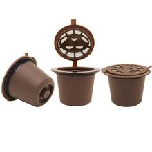 4 unids/pack Recargables Cápsula Nespresso Compatible con Vainas Rellenar Cápsulas máquina de Café Nespresso capsulas Rellenables