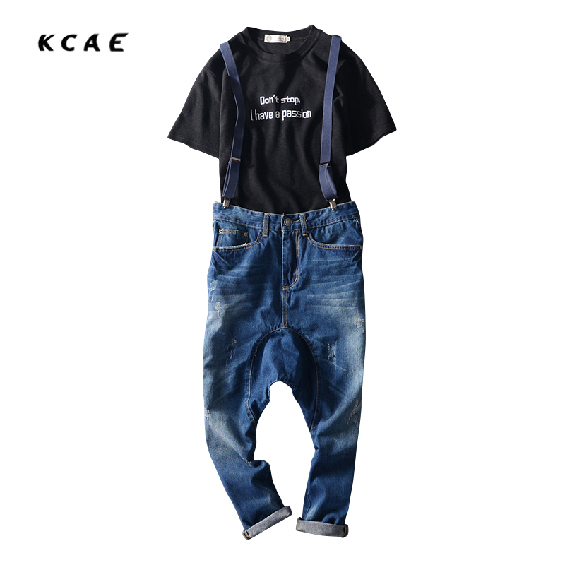 2017 New Fashion Men's Cool Harem pants Blue Denim Overalls Male Jeans Jumpsuits Suspenders Trousers For Man plus size pants the spring new jeans pants suspenders ladies denim trousers elastic braces bib overalls for women dungarees
