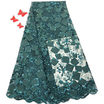 New High class gold tulle material with glitter French net lace fabric for shinning dress UN125(5yards/lot)