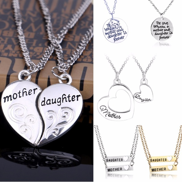 Family gifts love heart pendants chain necklace mother daughter family gifts love heart pendants chain necklace mother daughter necklaces mom mommy women girls jewelry mothers aloadofball Images