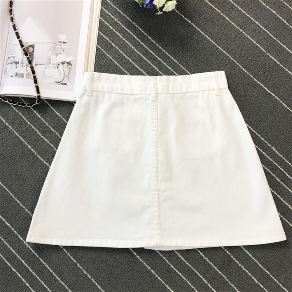 Denim Skirt Spring Summer Women Short A-line Buttom Skirts High Waist Slim Pocket Clothes For Female Causal Summer Women Skirt 16