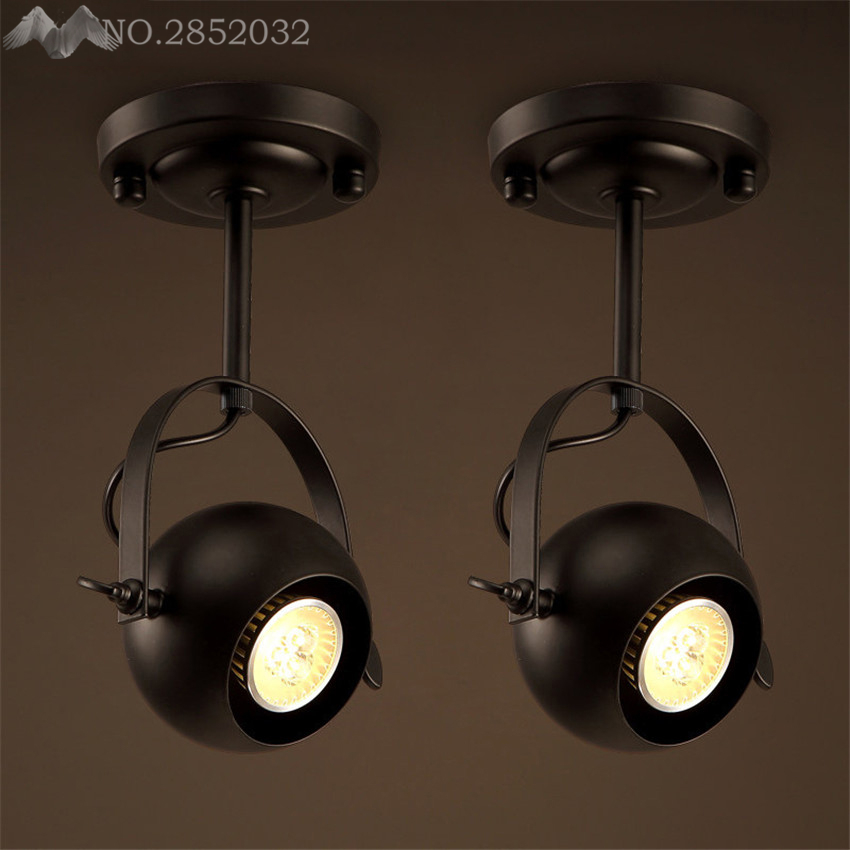 Retro Style Led Ceiling Lights Adjustable Angle Clothing: Creative Industrial Retro Art Deco Iron Pendant Lamp Big