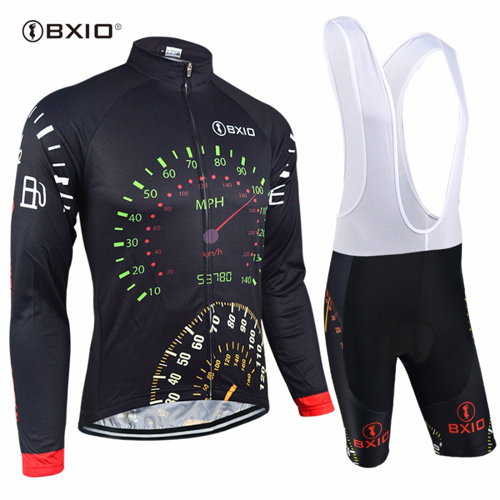 Bxio Long Sleeve Cycling Sets Pro Team Road Bike Clothing Set Autumn Bicycle Kits Ropa De Ciclismo MTB Ridding Clothes 022 teleyi team cycling outfits mens ropa ciclismo long sleeve jersey bib pants kits bicycle jacket trousers set red black