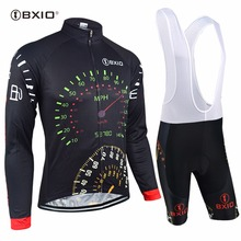 Bxio Long Sleeve Cycling Sets Pro Team Road Bike Clothing Set Autumn Bicycle Kits Ropa De Ciclismo MTB Ridding Clothes 022