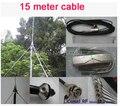 1/4 de onda de la Antena GP de 5 w, 7 w, 15 w, 30 w 50 w transmisor FM antena BNC con 15 metros