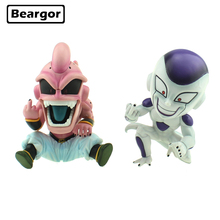 где купить Cute Anime Dragon Ball Z Majin Boo Buu & Freeza Frieza Funny Middle Finger GK Ver. Boxed PVC Action Figure Model Doll Toys Gift по лучшей цене