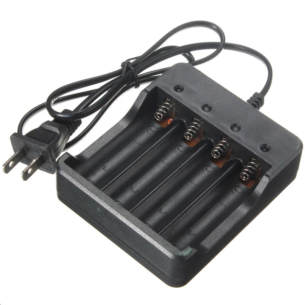 Черный Цвет универсальный Электрический Мощность Зарядное устройство 1200ma 4&#215;18650 Li-Ion Перезаряжаемые литиевых Батарея <font><b>Smart</b></font> Зарядное устройство&#8230;