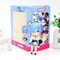 NEW hot 10 cm 2 pçs/set Re Zero Hajimeru kara Isekai Seikatsu Rem Ram action figure coleção de brinquedos de presente de Natal