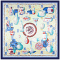 Китайский ветер голубой и белый фарфор, роспись платок, шарф для шеи 2017 новый шеи кольцо шарф женщины Шарфы пляж A295