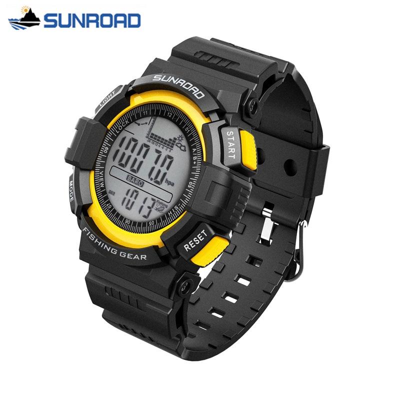 SUNROAD Waterproof Digital Watch All In One Multifunction Fishing Barometer Altimeter Thermometer Record Watch Clock Men Saat