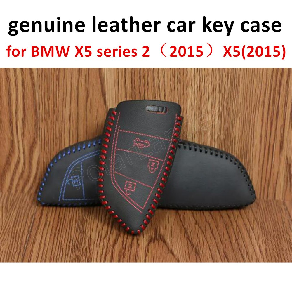 Only Red for BMW X5 series 2(2015) X5(2015) X6 X1(2016) Sewing Leather hot sale Car Key Cover Hand Sewing Key Case new brand
