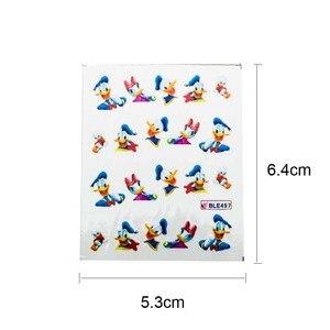 Image 5 - 11PCS Nail Stickers Set Cartoon Princess Mickey Nail Art Water Transfer Stickers Watermark DIY Nail Decals Supplies ZJT0003