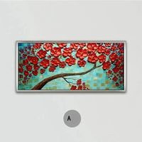 Handmade Abstract Heavy Textured Knife Flower Oil Painting No Frame Canvas Wall Art Acrylic Painting Wall Decor Art Painting