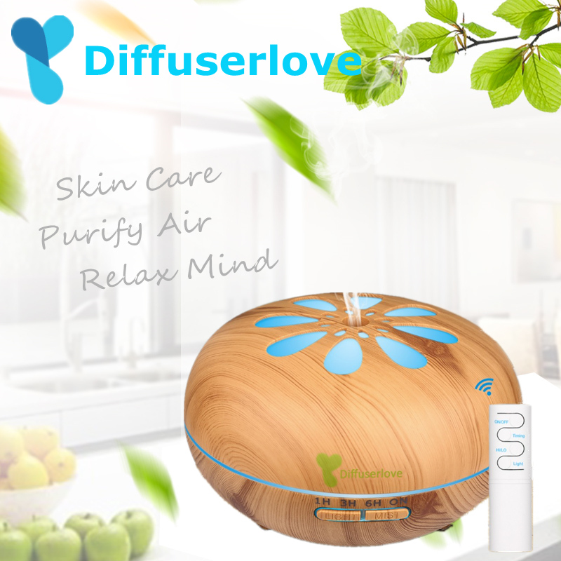 Diffuserlove 550ml Ultrasonic Air Humidifier Remote Control Household Humidifier With 7Color Change LED Light for Office BedroomDiffuserlove 550ml Ultrasonic Air Humidifier Remote Control Household Humidifier With 7Color Change LED Light for Office Bedroom