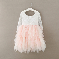 NEW 2018 Girls Spring summer Splice color lace dresses , girls lace party princess dress , tutu dress ,FC28888