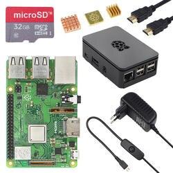Новый оригинальный Великобритании Raspberry Pi 3 Model B + комплект чехол 16 32 г SD карты 3A адаптеры питания HDMI кабель теплоотвод RPI 3 B плюс