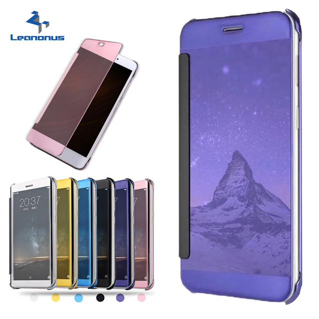 new style 8b9a9 3a781 US $7.49 |Leanonus For OPPO F1 Plus Clear View Smart Mirror Flip Cover Case  For OPPO R9 R9s R9Plus A39 A57 Plated PU Leather Hard Case-in Flip Cases ...